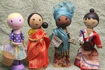 Crafts - Dolls - Wooden, peg, clothespin, etc. / by Cherry Krolczyk
