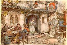 Anton Pieck / Anton Franciscus Pieck (1897 –  1987) was a Dutch painter, artist and graphic artist. His works are noted for their nostalgic, fairy tale-like character. I first saw his art when my mother made 3-D paper craft pieces from them…a hobby  that was popular at the time. I love his style and loved her!