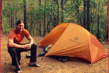 Our Favorite Camping Gear / Our Favorite camping gear which includes stuff for backcountry camping and car camping alike. Tents, stoves, sleeping bags, sleeping pads, travel pillow…all of it!