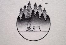 Pen Drawings