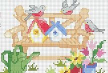 Casitas / Casitas de punto cruz en miniatura
