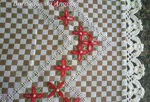 bordados em tecido xadres