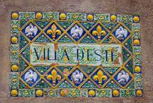 The Villa d'Este and Gardens, Tivoli, Lazio Region / Magnificent villa and gardens in the city of Tivoli,in the mountains of the region of Lazio outside of Rome.