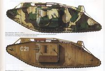 ww1 tank and soldiers
