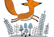 lis fox illustracje