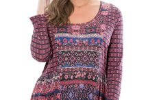 Pretty Plus Size Tunics / Plus size fashion from Woman Within.  A collection of our favorite tunics.