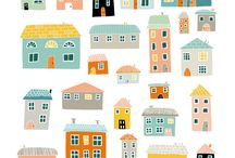 0-Pattern and Prints- Houses, buildings and vehicles