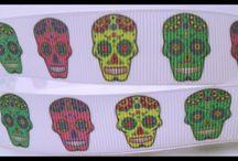 Skulls Skeletons - Ribbons Resins DIY Craft Supplies