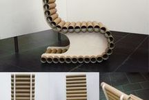 Meuble Tube Carton