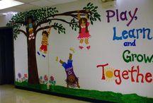 Falfestés tanterem  / classroom wall decor