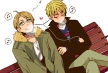 Hetalia US X UK