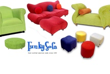 FUNKY OTTOMANS / Bright up your #living room with these funky #ottomans