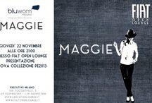 Maggie   Jeans grintosi per uno stile unico!   / E' rivolta alle donne grintose, sicure di sè e intraprendenti la collezione autunno/inverno 2012-13 di Maggie. I jeans, capi must-have di collezione,  accontentano tutte, ma proprio tutte le forme. Torna la zampa, rimane lo skinny e spopola il boyfriend! Ideali all-day-long i jeans Maggie seguono la moda rifacendosi sempre all spirito rock che caratterizza la collezione. Il denim e la lavorazione in tela cerata si impreziosiscono di dettagli luminosi
