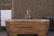 Hurlingham Wood & Copper Baths / A Hurlingham innovation... The combination of wood (a section of either Oak, Teak or fruit wood) beautifully combined with hand beaten copper!