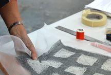 Batik el boyamasi ve baskilar