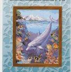 Dolfijn borduren