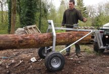 Timber Log Arch, atv timber log arch / The atv timber log arch is used to move large logs easily. It comes in two sizes and can move large or smaller logs by lifting or dragging using an atv, quad bike or lawn tractor. For more info: http://www.fresh-group.com/timber-log-arch.html