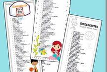 Preschool Book Lists