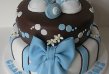Baby boy stuff  / For a Boys Baby shower if I were having one, lol! Love this cake just need to double the shoes!
