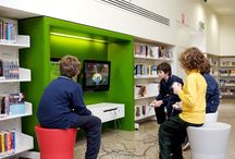 Library design / Great design at public or home libraries