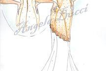 Miei disegni: Abiti da sposa. My Creations: wedding gowns / I miei bozzetti di abiti da sposa. Contattatemi per maggiori informazioni. My drawings of wedding gowns. Contact me for more.
