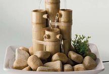 Artesanato com bambu, fonte.