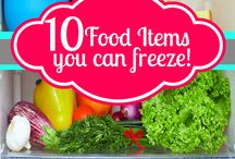Fresh & Frozen / Tips, tricks and information on what an how to freeze fresh food.