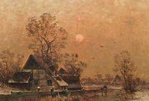 деревенский пейзаж (rural landscape)
