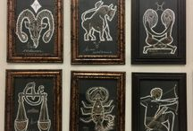 Zodiac drawings.