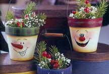 Vianočné kvetináče