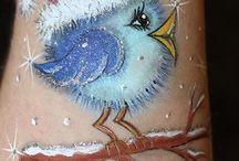 Xmas paint fun