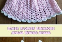 Crocheted pinafore