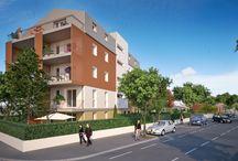 Résidence Clary / Ce #programme #immobilier se situe à #Toulouse quartier #Borderouge. Il contient 18 #logements de type T1, T2 et T4