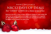 NBC12 Days of Deals 2013 / #RVA Deals for the holidays! / by NBC12