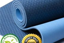 FloAthletika PRO Yoga & Pilates Mat / Premium Yoga & Pilates mat.  GREAT CUSHIONING ✓ At 1/4 inch, the mat ensures you stay comfortable, but still connected with the ground. MOISTURE REPELLENT ✓ The newly designed eco-friendly material repels moisture, bacteria and odor, leaving your mat ALWAYS FRESH! REVERSIBLE ✓ It's like getting TWO MATS IN ONE with two different grip patterns! LIGHTWEIGHT ✓ At just over 2 lbs, the FlöAthletika Premium Yoga/Pilates Mat is extremely convenient to carry around to the studio, or while traveling!