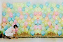 Balões  festa