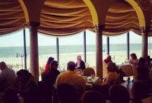 "For a (dining) room with a view, look no further! / Thanks to its location on a band of land between the Atlantic Ocean and the Absecon Inlet, Atlantic City is surrounded by water. Restaurateurs have ample opportunity to capitalize on this asset by designing dining rooms and decks to maximize the ""ooh"" factor of the resort city's priceless views. And with dining options from luxury to casual there is a restaurant with an ocean view to suit every taste. Here is a sample of options inside the casinos and around town.  / by DO AC"