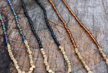 Modern beaded necklaces