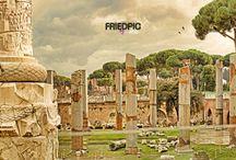 60x150 canvas print / Roma, SPQR, friedpic.com