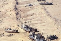 Aral sea shipwrecks