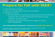 Prepare for Fall with IKEA / IKEA wants to know which IKEA products inspire you most for the season ahead. Play the Pin-it-to-win-it sweepstakes and be entered for a chance to win a $500 IKEA Gift Card so you can start getting ready for Fall today!