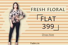 FADES Flat Offer At 399 / Fresh up your day by buying this fresh floral ombre top which is higly in trend @Rs.399.Offer valid till stock last.  Link:http://fades.in/index.php…