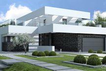 HomeKONCEPT 41 | Projekt domu / Projekt piętrowego domu o nowoczesnej i oryginalnej stylistyce http://www.homekoncept.com.pl/produkt/projekt-domu-homekoncept-41/