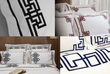 Luxury French Bed Linen / This collection is unique in the world of bed linens and brings elegance and precious originality to its customers. Entirely made in France this collection features geometric and poetic designs.