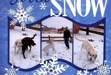First snow scrapbook pages