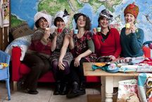 Skip Sisters / My fab arts collective of five amazingly talented women, turning trash to treasure with wit and skill!