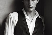 Black & white male portraits