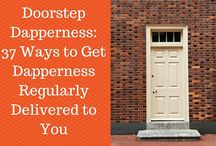 #DoorstepDapperness / Helping you to be dapper from home - so that you never have to go shopping again.