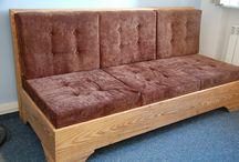 Kanapa / Canapé / Sofa / Couch / Kanapa ze starego drewna/ Canapé en vieux bois.