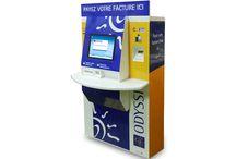 Bornes de paiement / Borne d'encaissements multi-moyens de paiement (espèces, chèque, carte bancaire et paiement SEPA).